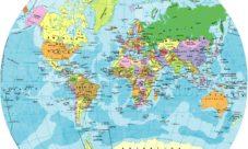 ¿Cómo se representa la Tierra en un mapamundi?