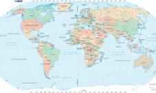 Mapa del mundo con nombres de países