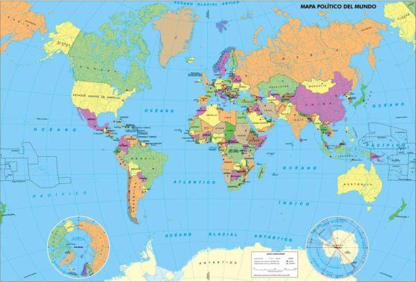 Mapamundi político