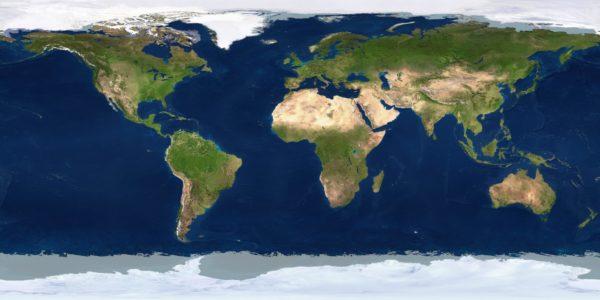 Mapamundi satelital
