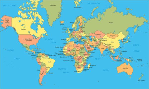 ¿Qué es un mapamundi?