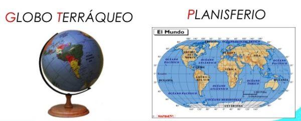 Diferencias entre globo terráqueo, mapamundi y planisferio
