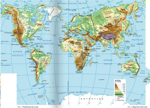 Mapamundi orográfico